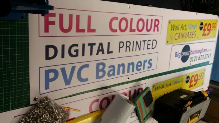 pvc banners with eyelets Birmingham