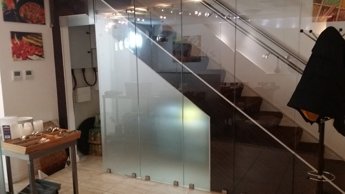 Frosted glass wall art