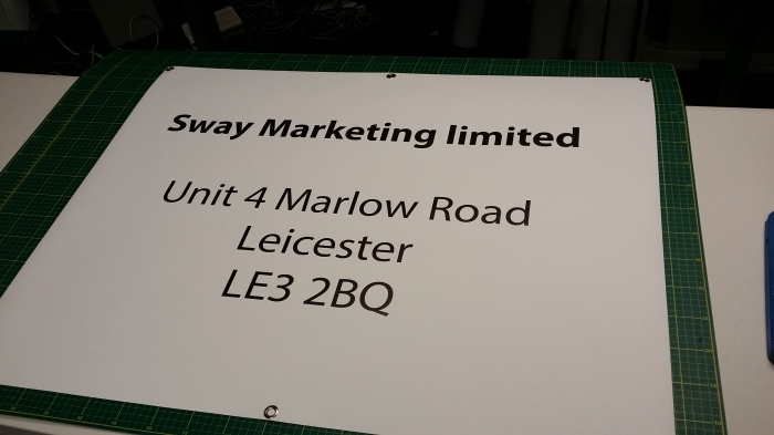 A simple banner for a customer based in Leicester