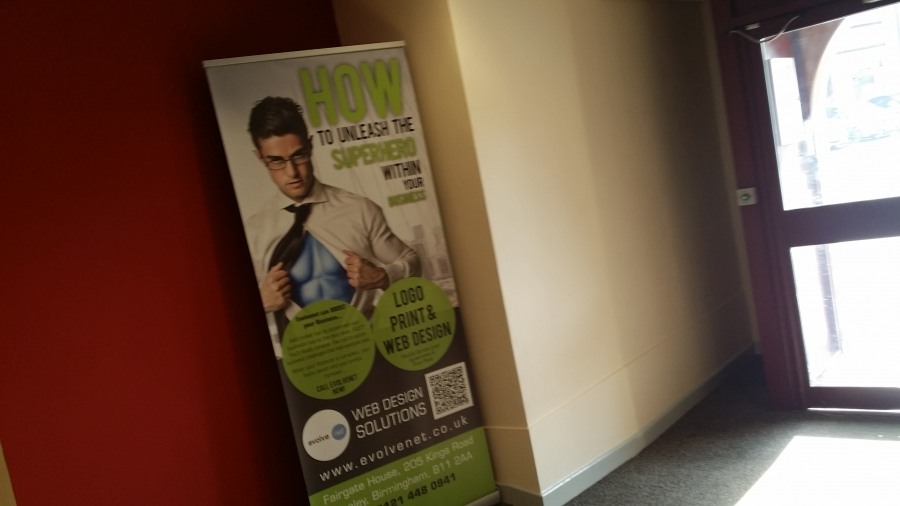Roller banner for a company in Birmingham