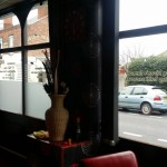 Window frosting for restaurants