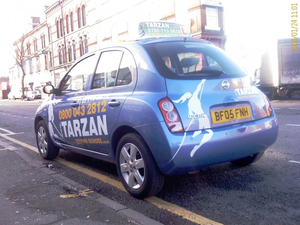 Vehicle wrap vehicle signs for a driving instructor car - Vinyl wrap birmingham al ...