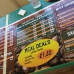 Birmingham menu board