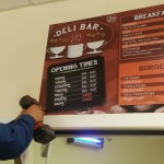 Birmingham cafe menu board