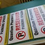 Reserved Parking Sign West Midlands