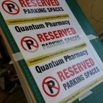 Birmingham Reserved Parking Sign