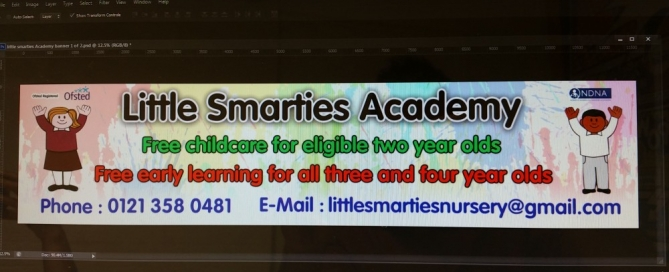 Banner design for Little Smarties Academy