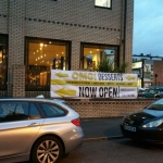 Now Open PVC Banner