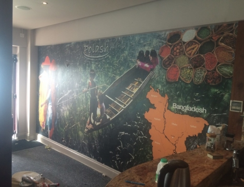Custom wallpaper for a restaurant (Polash Glouscter)
