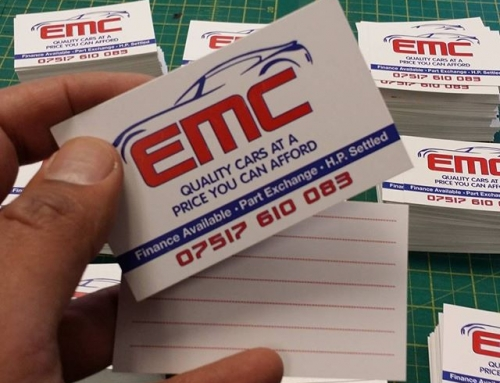 Business Cards for EMC cars#bigprintbirmingham #printingbirmingham #bigprintbham #signmaker #signs #businesscards