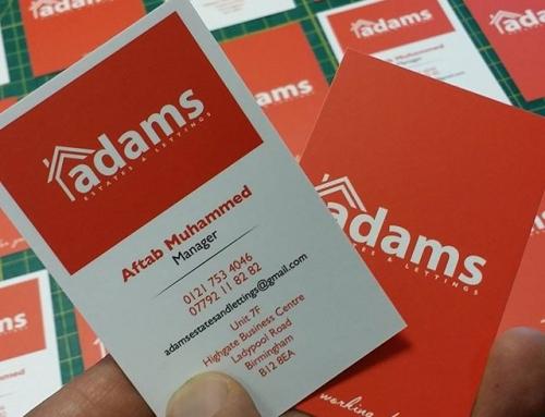 Business Cards for Adam estates Birmingham #bigprintbirmingham #printingbirmingham #bigprintbham #signmaker #signs #businesscards