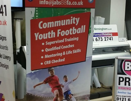 PVC banner for JABS B8Please like and share #bigprintbirmingham #printingbirmingham #bigprintbham #rollerbanner #popupbanner