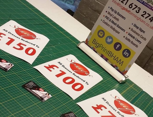 "A4 ""reduced by"" posters and business cards printed within 1 hour #bigprintbirmingham #printingbirmingham #bigprintbham #salesigns @soniquedresses Please share"