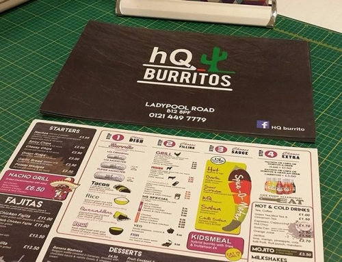 Table Menu's designed and printed by us. Double Sided 350gsm Matt Laminated#bigprintbirmingham #printingbirmingham #bigprintbham #menu #internalmenu #tablemenu