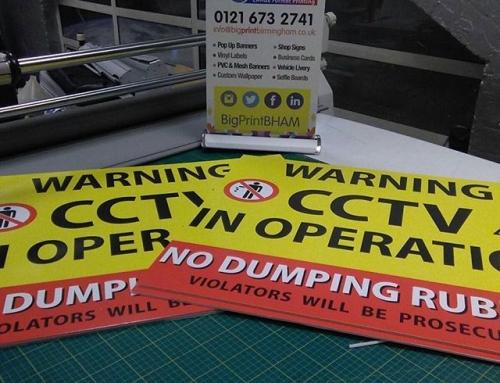 CCTV Correx boards designed and printed by us #bigprintbirmingham #printingbirmingham #bigprintbham #correxboards #toletsigns #cctvinoperation #nodumping
