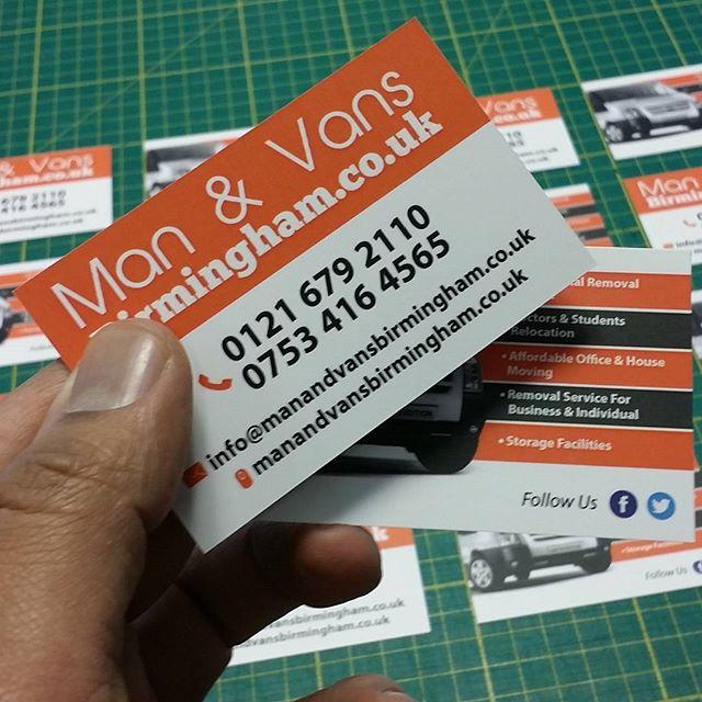 Man and van business cards designed and printed by us bigprintbirmingham printingbirmingham bigprintbham businessstationary businesscards big print birmingham tel 0121 673 2741 reheart Gallery
