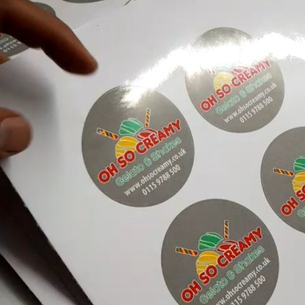 Circle stickers designed and printed by us x2000bigprintbirmingham printingbirmingham printshop shopsigns largeformatprinting stickers big print