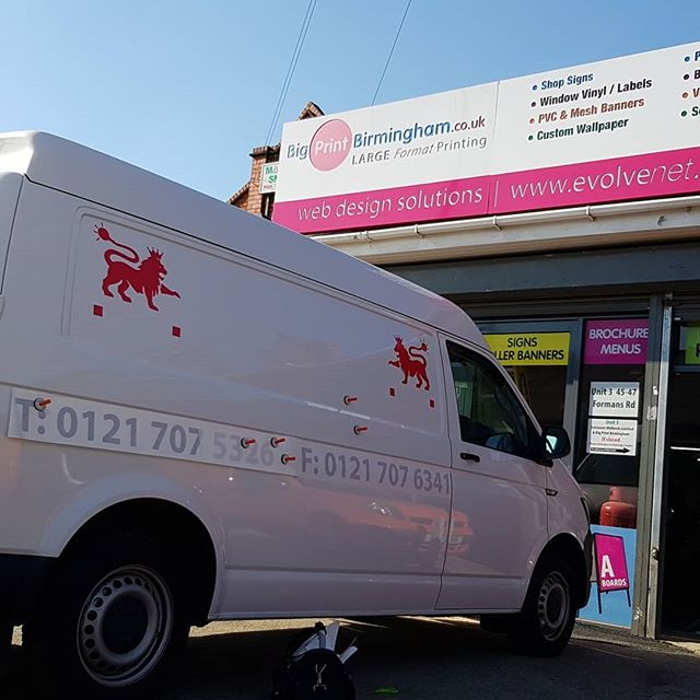 Van Livery Being Applied Call Mr Big Print To Book Your