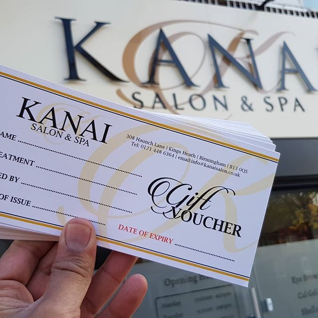 We designed and printed these Gift Vouchers for Kania salon and