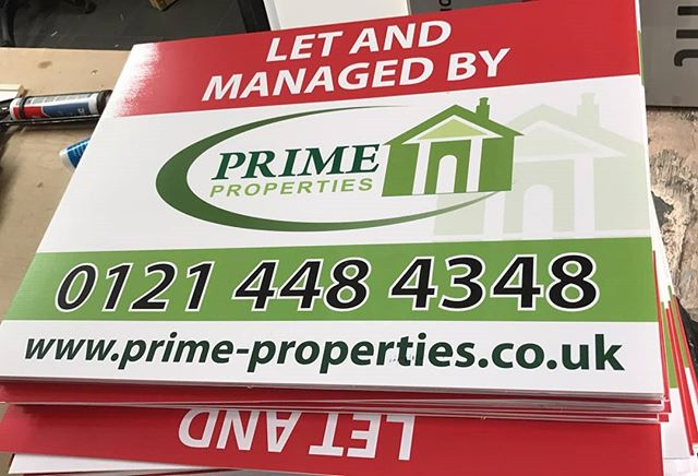 Estate agent boards ready for collection To place your order whatsapp me: Mak of Big Print Birmingham on 07702153393 Or use this whatsapp link from your mobile: https://wa.me/447702153393
