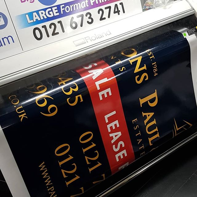Printed a number of commercial boards today for @paulandsons To place your order whatsapp me: Mak of Big Print Birmingham on 07702153393 Or use this whatsapp link from your mobile: https://wa.me/447702153393