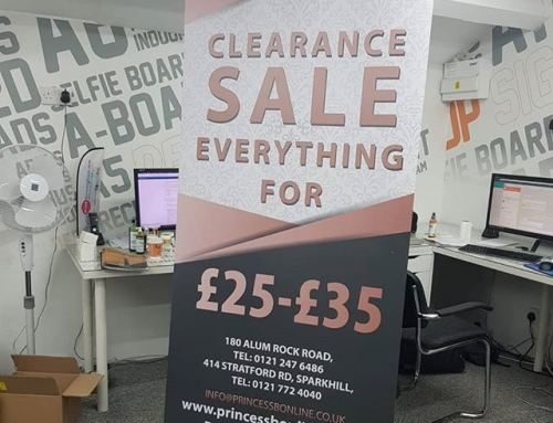 Roller banner design and print for @princessbonline To place your order whatsapp me: Mak of Big Print Birmingham on 07702153393 Or use this whatsapp link from your mobile: https://wa.me/447702153393 #bigprintbirmingham #printingbirmingham #signmaker #signs #rollerbanner #ladypoolroad #alumrockroad