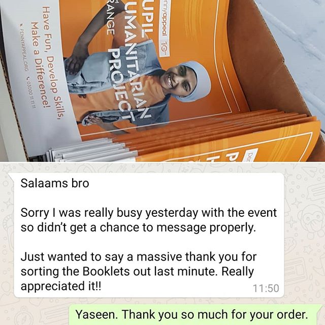 Another happy customer. I was asked to produce x50 20pp A4 booklets last minute dot Com. I returned to the office around 22:00 on Friday, left the office at 00:30 on Saturday. Customer collected the order from my house at 7:00 in the morning. I'm always willing to go the extra mile if at possible.  To place your order whatsapp me: Mak of Big Print Birmingham on 07702153393 Or use this whatsapp link from your mobile: https://wa.me/447702153393