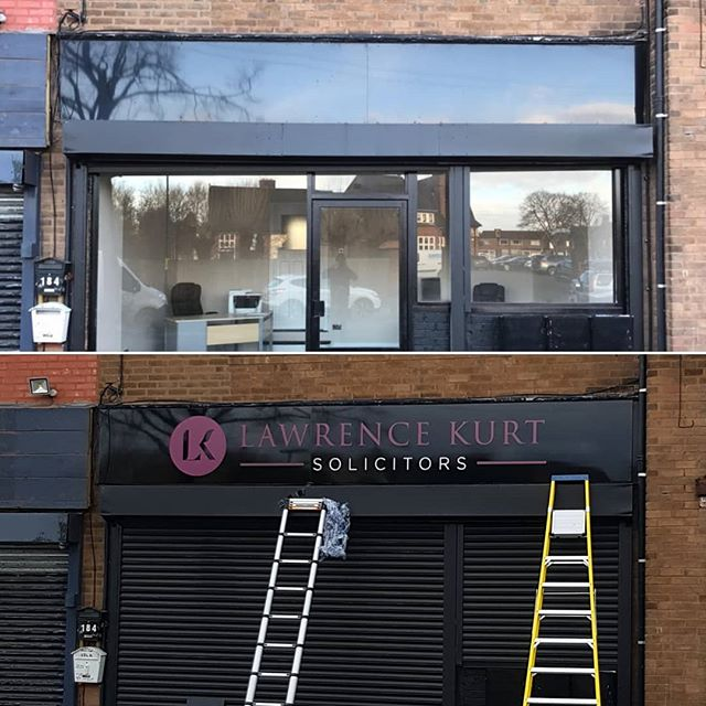 Before and after of a signboard out up last week for Lawrence Kurts To place your order whatsapp me: Mak of Big Print Birmingham on 07702153393 Or use this whatsapp link from your mobile: https://wa.me/447702153393