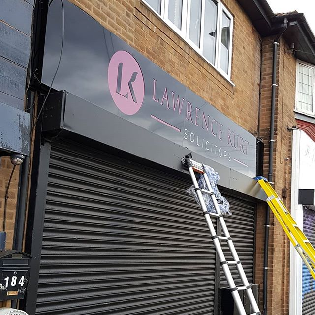 Lawrence Kurts signboard. To place your order whatsapp me: Mak of Big Print Birmingham on 07702153393 Or use this whatsapp link from your mobile: https://wa.me/447702153393