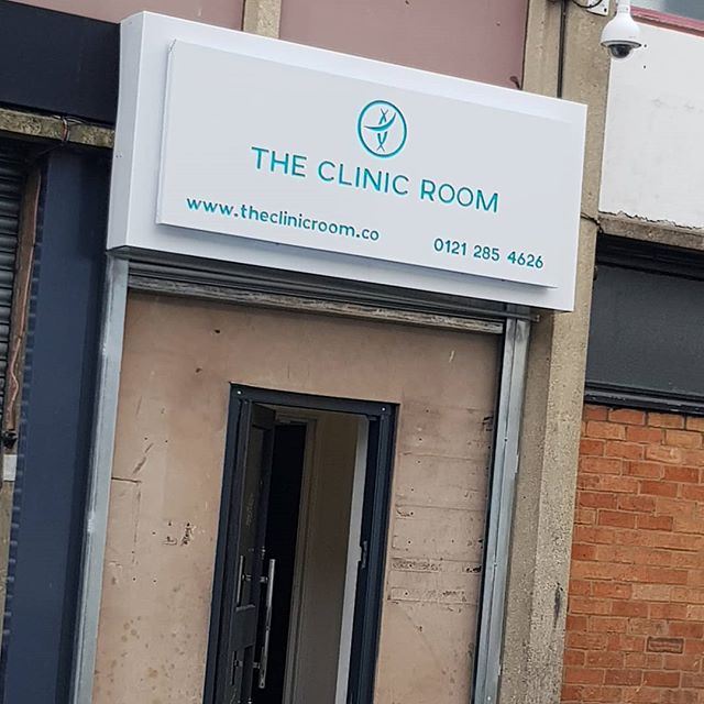 New signboard gone up for @theclinicroom To place your order whatsapp me: Mak of Big Print Birmingham on 07702153393