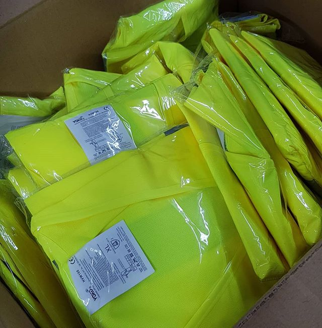 Delivery full of Hi Viz jackets just arrived To place your order whatsapp me: Mak of Big Print Birmingham on 07702153393