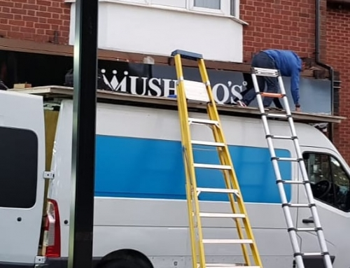 Mushtaqs sign board going up If at all possible PLEASE whatsapp me : https://wa.me/447702153393