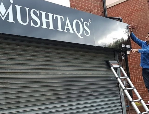 Mushtaqs Sign Board To place your order whatsapp me: Mak of Big Print Birmingham on 07702153393