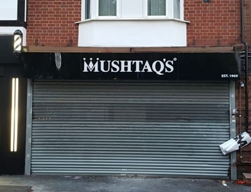 Mushtaqs sign board. All completed To place your order whatsapp me: Mak of Big Print Birmingham on 07702153393