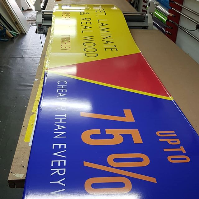20 foot long signboard for @floorsryours_stirchley Is going up later. Watch this space To place your order whatsapp me: Mak of Big Print Birmingham on 07702153393