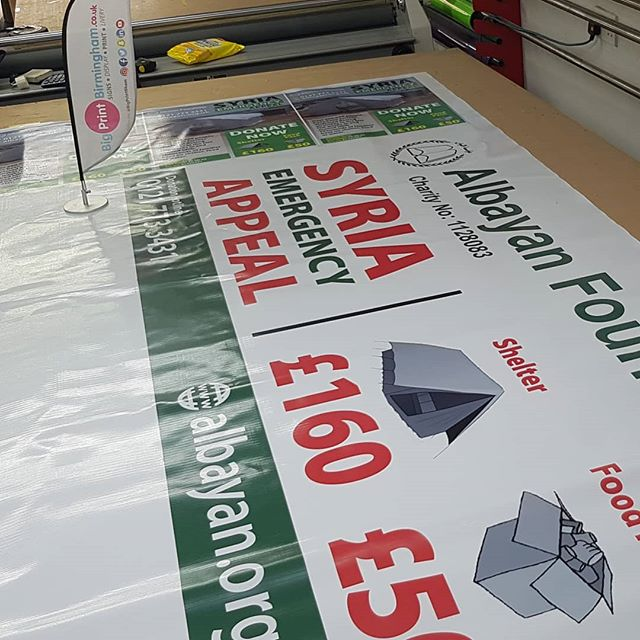 Do you need a PVC banner? To place your order whatsapp me: Mak of Big Print Birmingham on 07702153393