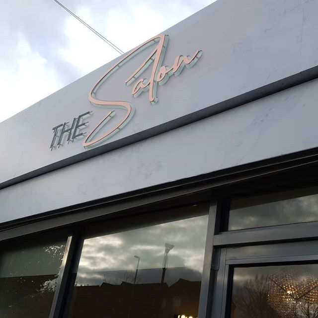 @thesalon_bham signboard. Looks pretty awesome. Long time coming. Check them out. To place an order If at all possible PLEASE whatsapp me on 07702153393