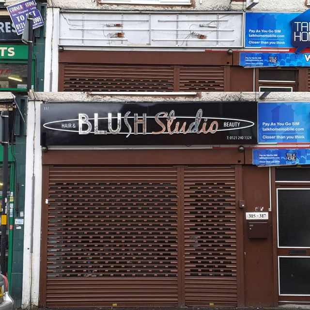Before and after signboard for blush studio To place an order If at all possible PLEASE whatsapp me on 07702153393