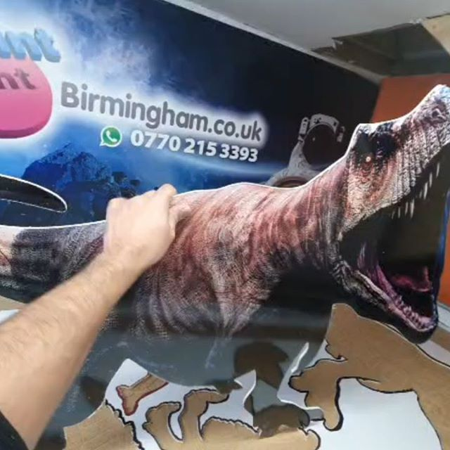 T-Rex cut out, to be used in a kids party To place an order If at all possible PLEASE whatsapp me on 07702153393