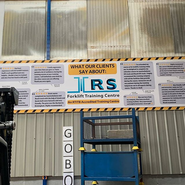 16x4 feet foamX boards fitted internally at @rsforkliftstraining To place an order If at all possible PLEASE whatsapp me on 07702153393
