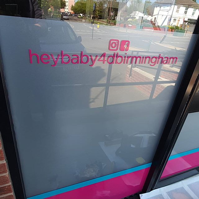 Before, during and after of a window vinyl for @heybaby4dbirmingham To place an order If at all possible PLEASE whatsapp me on 07702153393