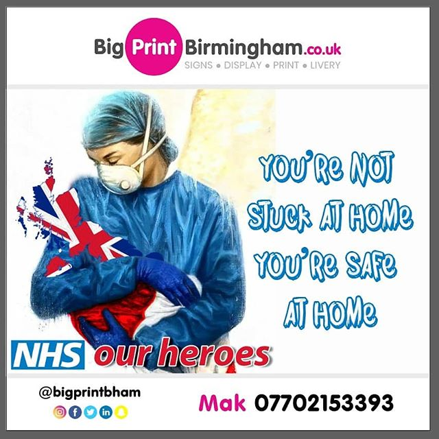 Your not stuck at home. Your safe at home. Mak of Big Print Birmingham 07702153393