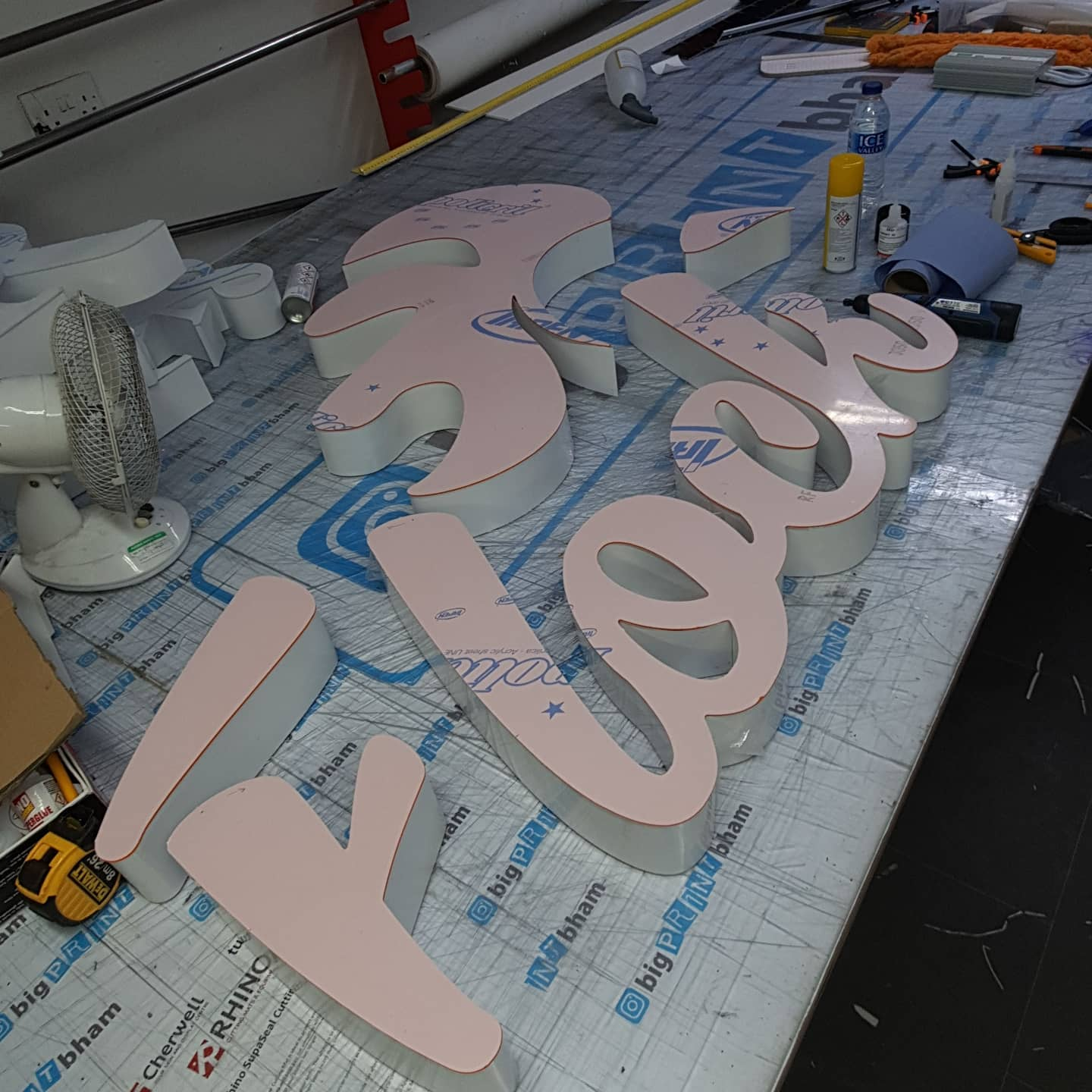 Another 3D sign in production. Flock Piri Piri on Coventry Road Birmingham