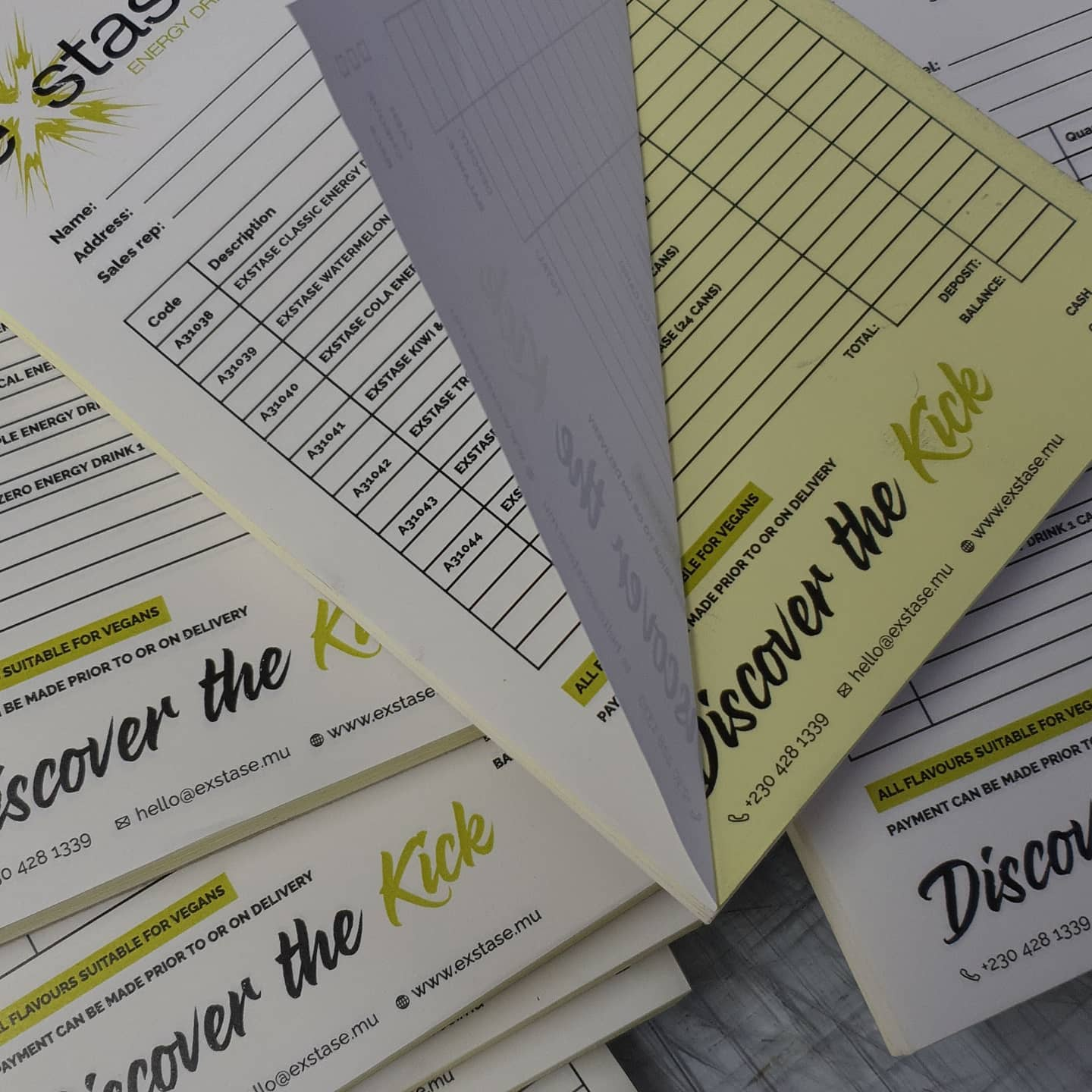 Need NCR Pads / 2 Part recipe books? To place an order for NCR books, If at all possible PLEASE whatsapp me on 07702153393