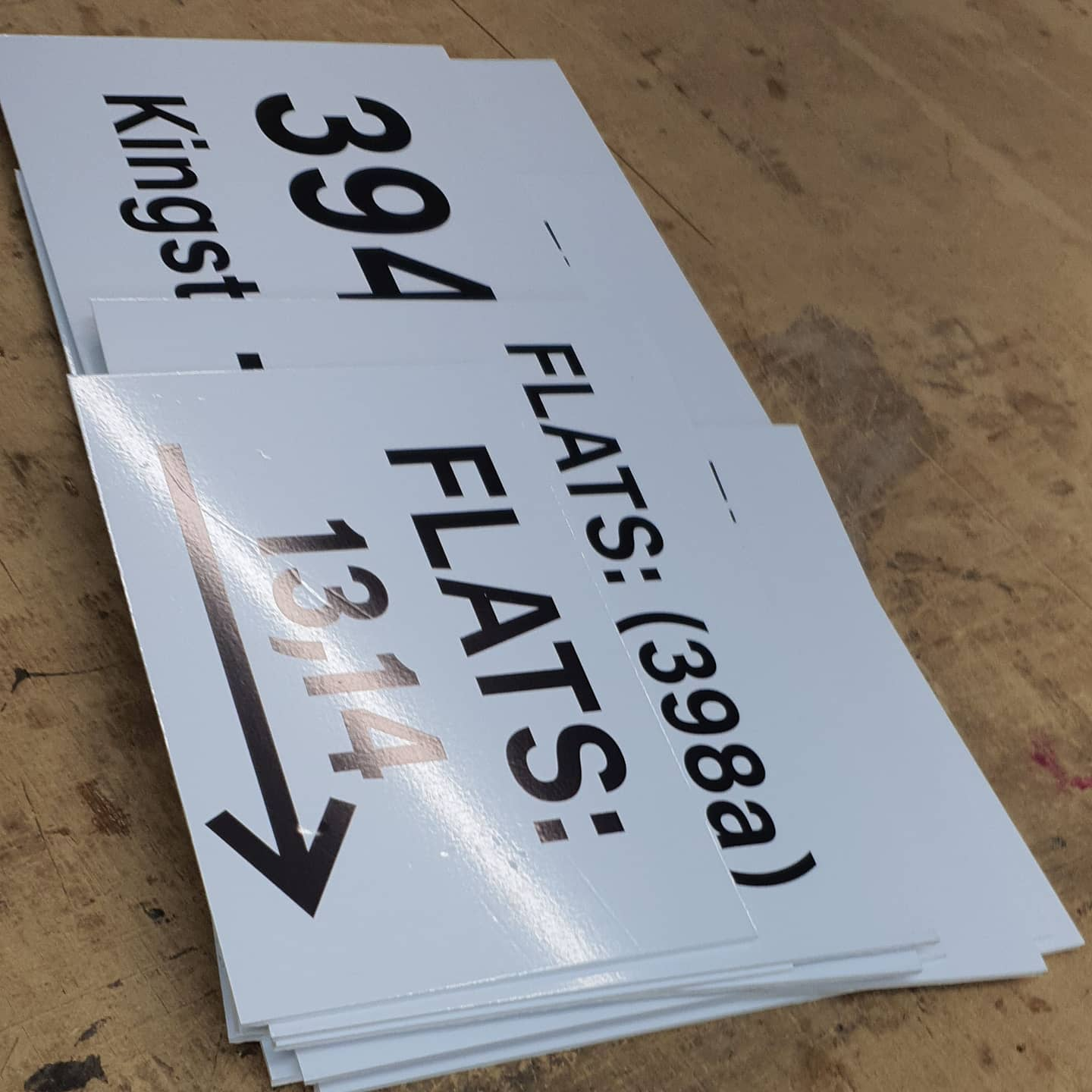 Flat number direction signs To place an order If at all possible PLEASE whatsapp me on 07702153393